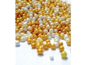 3413 cukrovy macek mix zlato a perlet 1 kg sacek