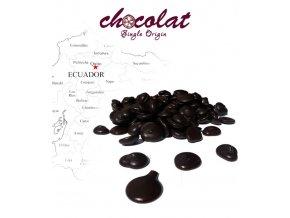 2492 cokolada horka single origin ecuador 73 pecky 1 kg sacek alu