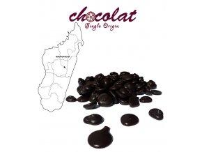 2504 cokolada horka single origin madagaskar 74 pecky 12 kg karton