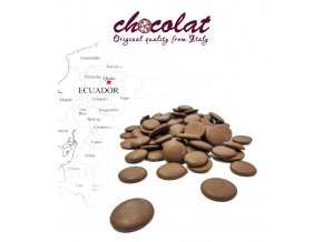 2552 cokolada mlecna single origin ecuador 36 pecky 5 kg sacek alu