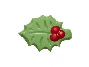 2744 cokoladova cesmina holly 3d d 4 2cm zeleno cervena 240 ks bal 450g