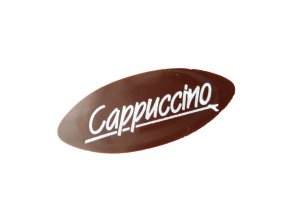 2750 cokoladova dekorace oval cappuccino 5 cm horka 240 ks bal 340g