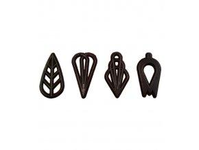 2768 cokoladove filigrany soire 4 tvary v 4cm horke cca 610 ks bal 460g