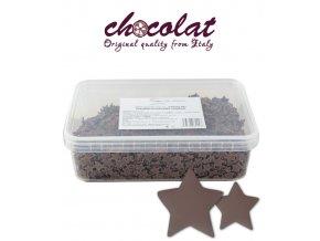 2843 cokoladove hvezdicky 9 15mm mlecne 800 g vanicka