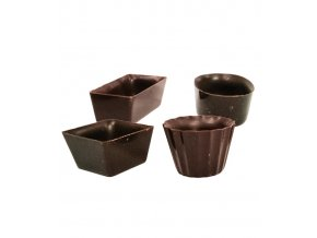 2858 cokoladove kosicky mini mignons v 1 5cm 4 tvary horke 434 ks bal 1480g