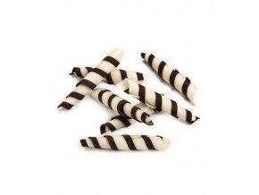 2933 cokoladove tycinky rolls twister 5 5 5cm horko bile 1 kg bal 650ks