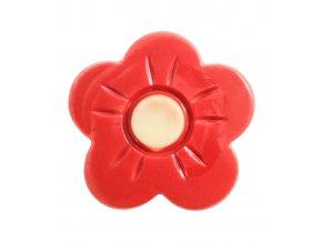 2942 cokoladovy kvet marigold prum 3 6cm cerveno bily 210 ks bal 600g