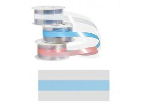 5528 dortove pasky pruhledne sire 4 5cm svetle modra prouzek 20 m role