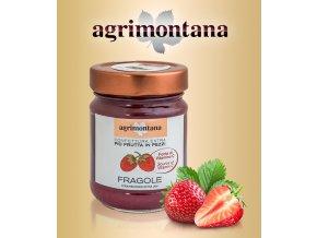 1490 dzem extra agrimontana jahody s kusy 230 g sklo