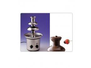 16763 fontana na cokoladu nerez 3 patra prum 21 v 39 cm