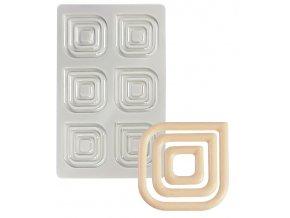 14684 forma na cokoladove dekorace ctverce 3x6 tvaru forma