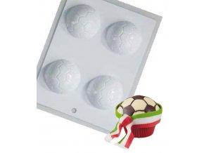 14687 forma na cokoladove dekorace fotbalovy mic 4 tvary forma
