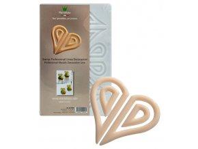 14717 forma na cokoladove dekorace srdce 2x6 6 tvaru forma