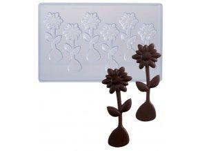 14744 forma na cokoladove kopretiny 6 tvaru forma