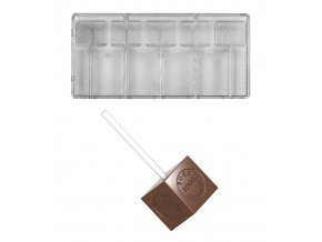 14753 forma na cokoladove lizatko pure100 cacao butter 2 x 20 5g 1x5 tvaru forma