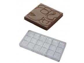 14780 forma na cokoladove neapolitanky 5g glifi 3x6 tvaru forma
