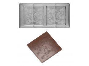 14792 forma na cokoladove tabulky 93 5g relief kvety 1x2 tvary forma