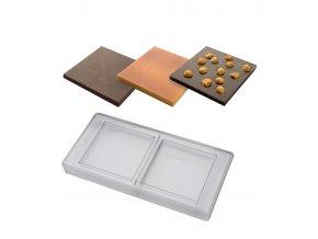 14804 forma na cokoladovou tabulku 100g ctverec 2 tvary forma