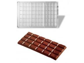 14825 forma na cokoladovou tabulku 108g obdelnik 1x3 tabulky forma
