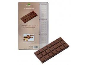 14834 forma na cokoladovou tabulku 13g obdelnik stredni 12 tvaru forma