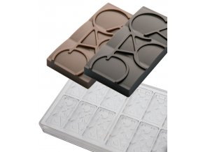 14846 forma na cokoladovou tabulku 20g snack cacao 6x2 tvary forma