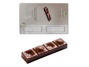 14870 forma na cokoladovou tabulku 30g tycinka s vystupky a dolicky 8 tvaru forma