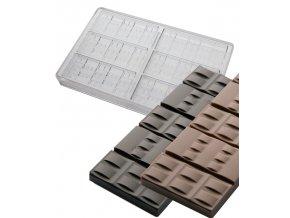 14903 forma na cokoladovou tabulku 50g cinturino 3x2 tvary forma