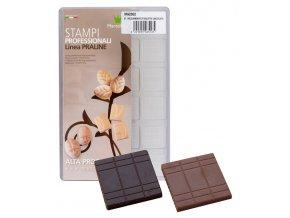 14933 forma na cokoladovou tabulku 5g dekor obdelniky 24 tvaru forma