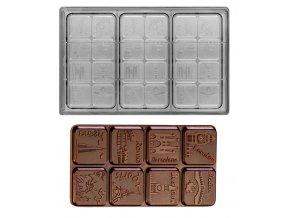 14957 forma na cokoladovou tabulku 80g nazvy mest 3 tvary forma