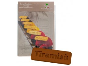 15002 forma na cokoladovy popisek pe tiramisu 12 tvaru forma