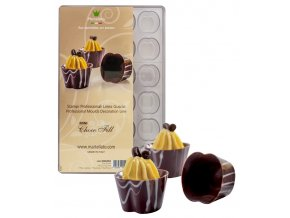 15023 forma na cokoladu kalisek oval 4x6 tvaru forma