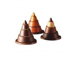 16715 forma na cokoladu vanocni stromek 1 tvar 3 formy