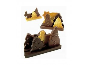 15044 forma na cokoladu 3 sady ruzne vanocni motivy 3 tvary 18 forem