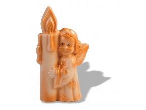 15047 forma na cokoladu 3d andilek se svickou 1 tvar 1 par forem