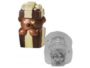 15092 forma na cokoladu 3d medvidek prekvapeni 1 tvar 1 par forem