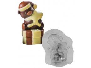 15095 forma na cokoladu 3d nezny medvidek 1 tvar 1 par forem