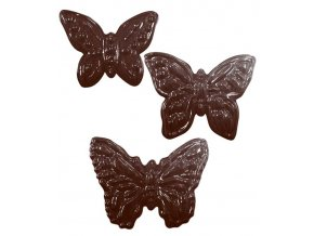 15137 forma na cokoladu pe 3 druhy motylu 5 tvaru forma