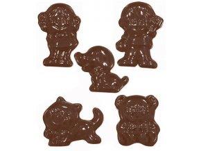 15149 forma na cokoladu pe deti kocka pes 12 tvaru forma