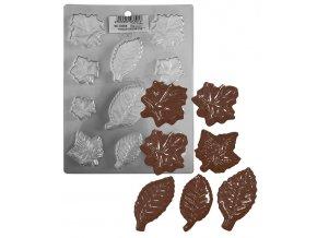 15182 forma na cokoladu pe listy stromu 11 tvaru forma