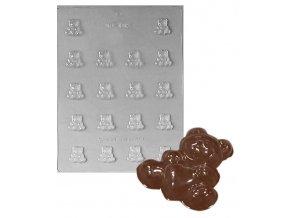 15185 forma na cokoladu pe medvidek se srdickem 18 tvaru forma