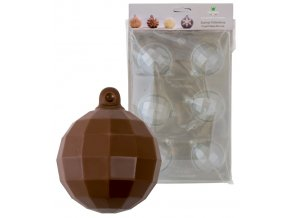 15227 forma na cokoladu pe sada 2 ks vanocni koule globus 6 tvaru forma 2 formy