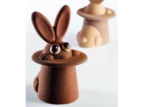 15242 forma na cokoladu sada 2 ks kralik v klobouku 2 tvary 10 forem