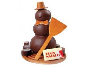 15245 forma na cokoladu sada 2 ks snehulak 2 tvary 18 forem