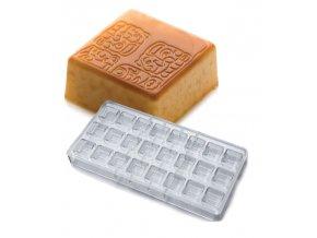 15485 forma na pralinky glifi maya 9g 3x8 tvaru forma