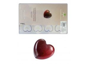 16088 forma na pralinky srdce hladke 12 tvaru forma