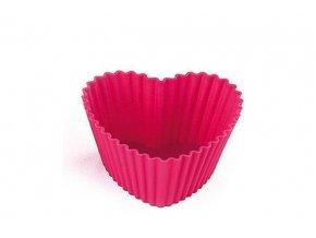 Silikonová forma na muffiny 6 ks – srdce