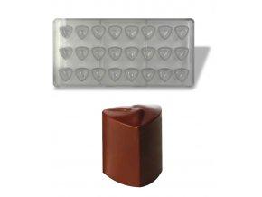 16187 forma na pralinky vysoke srdce 10g 3x8 tvaru forma