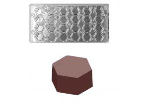 16256 forma na pralinky magneticka hexagon 7g 4x6 tvaru forma