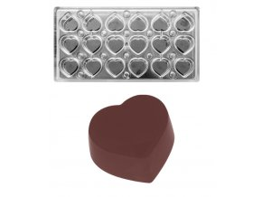 16301 forma na pralinky magneticka srdce 11g 3x6 tvaru forma