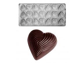 16316 forma na pralinky parovaci bavlnene srdce 2x8 6g 3x7 tvaru forma